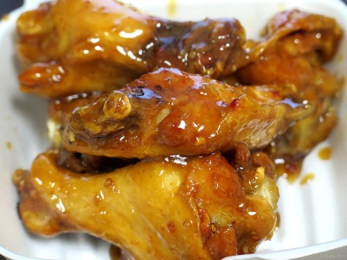 Hot and sweet wings