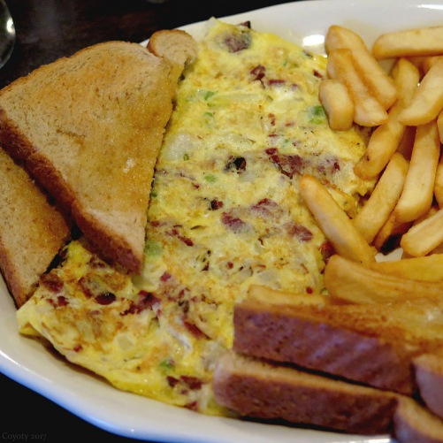 Pastrami western omelet