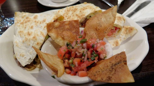 Steak quesadilla with pico de gallo