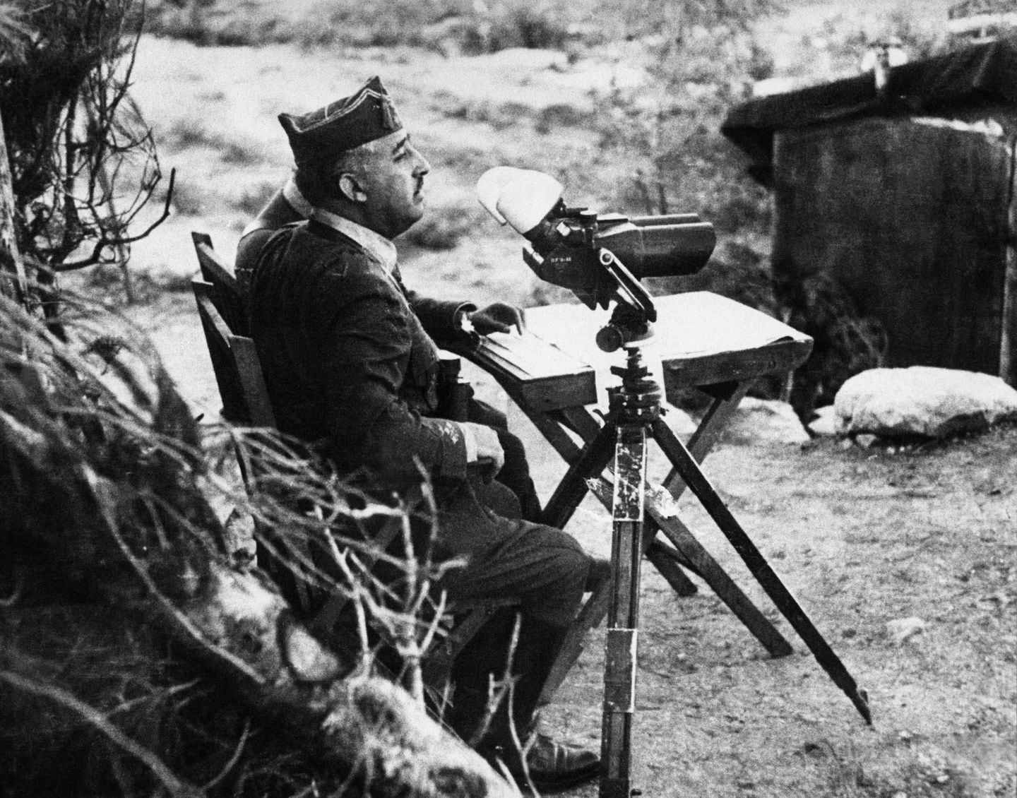 This undated photo shows Gen. Francisco Franco watching the front during the Spanish Civil War. (AFP/Getty Images)