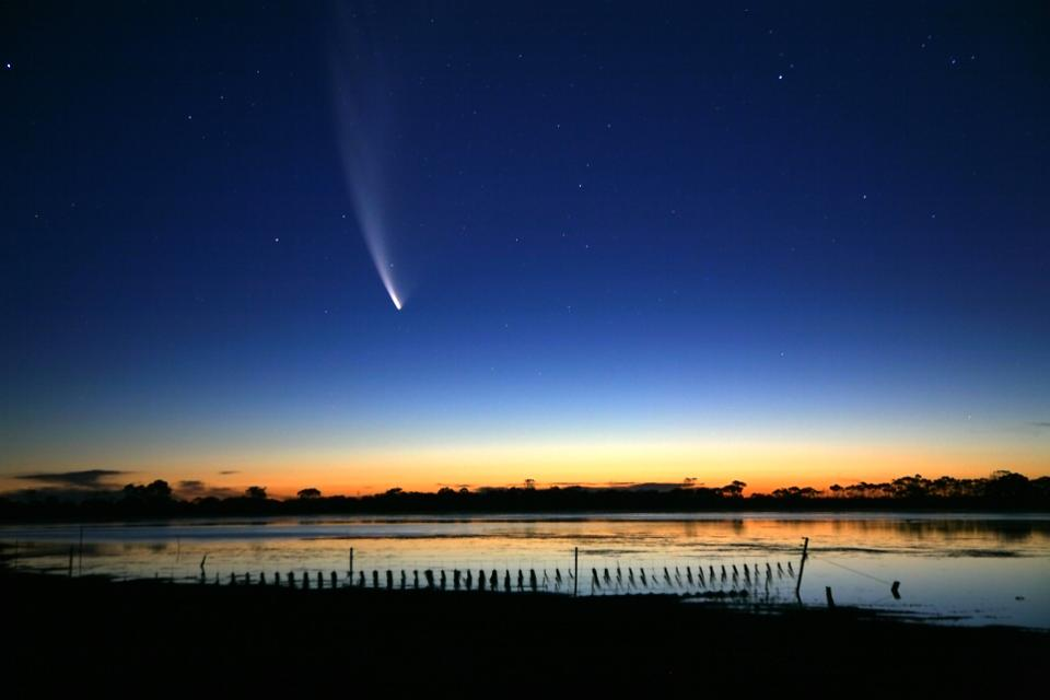Comet McNaught, the 'Great Comet' of 2007, from Australia.